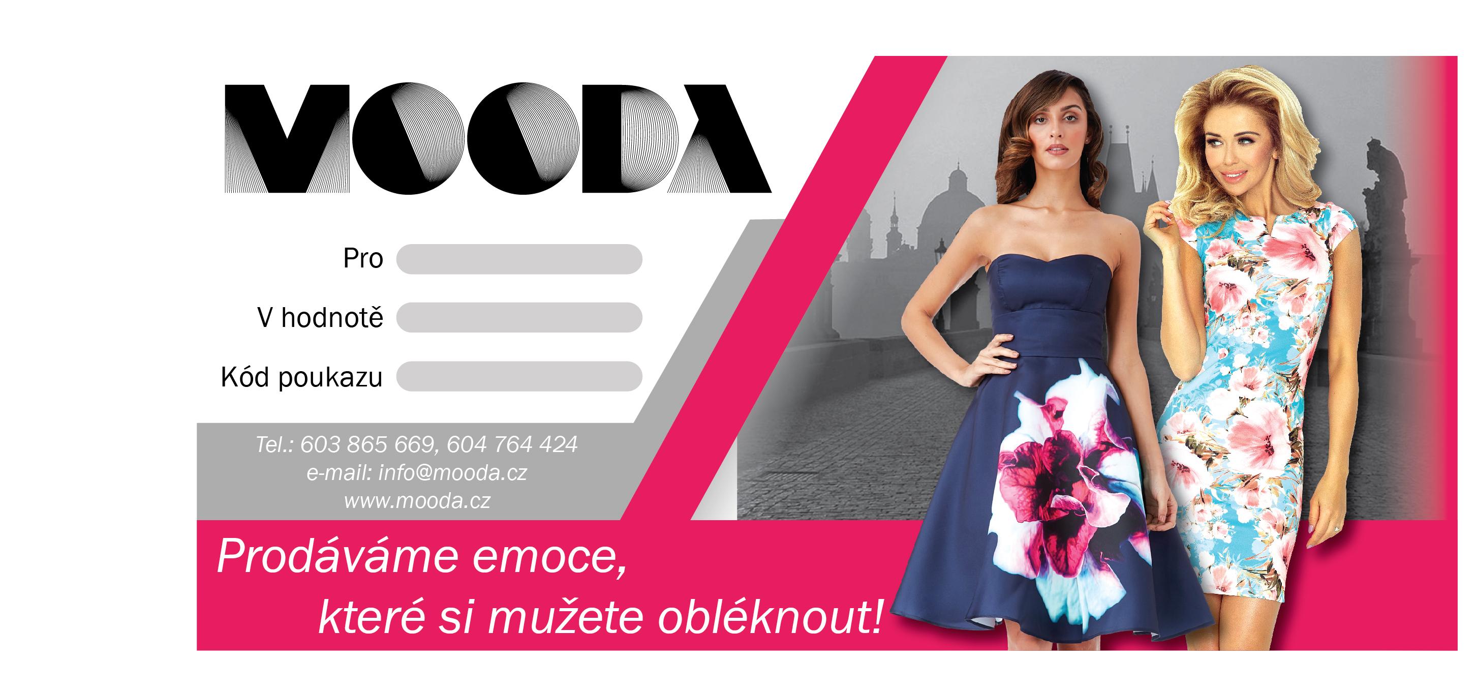 Dárkový poukaz MOODA.cz